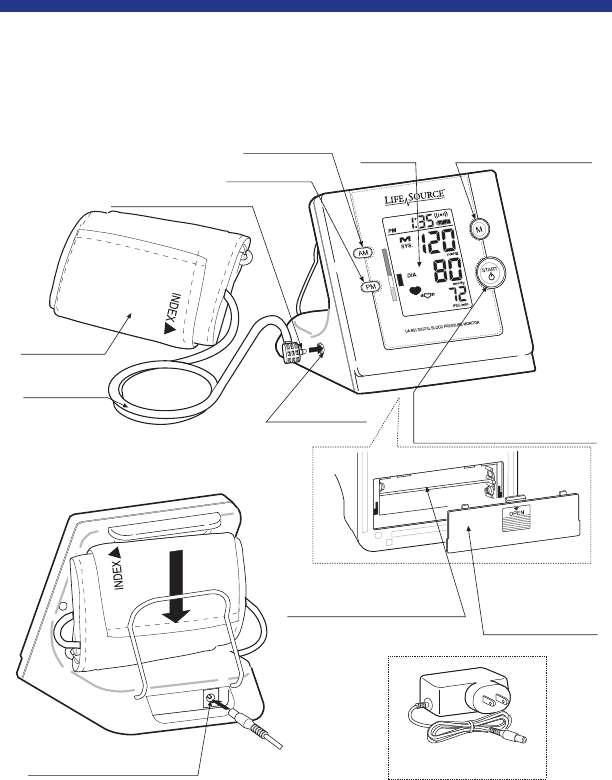 Page 6 of LifeSource Blood Pressure Monitor UA-853 User