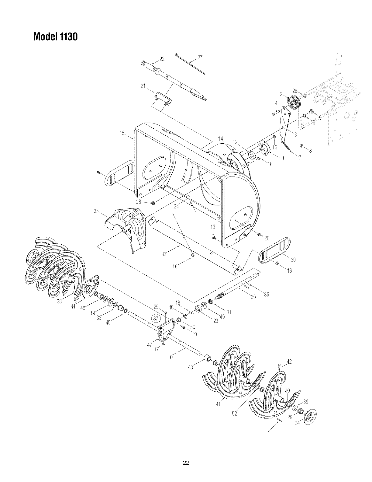 Page 22 of Toro Snow Blower 1028 User Guide