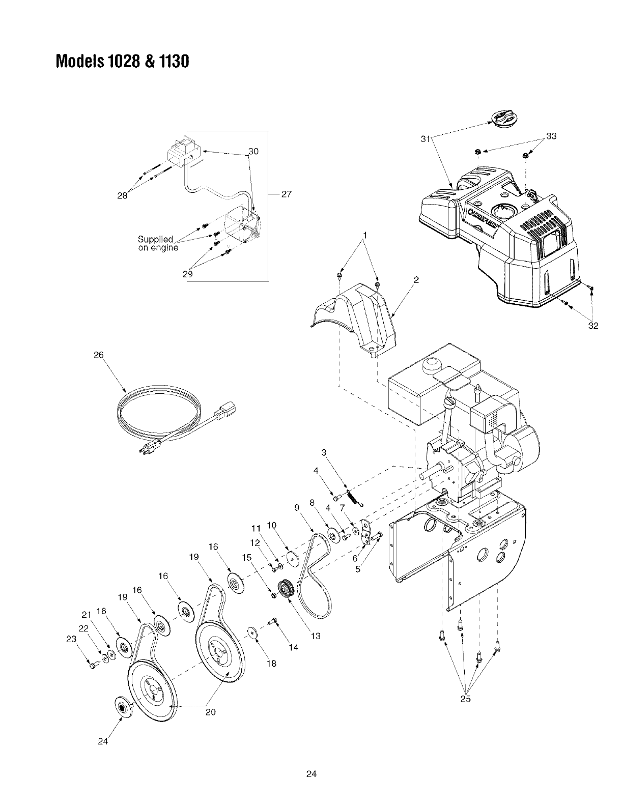 Page 24 of Toro Snow Blower 1028 User Guide