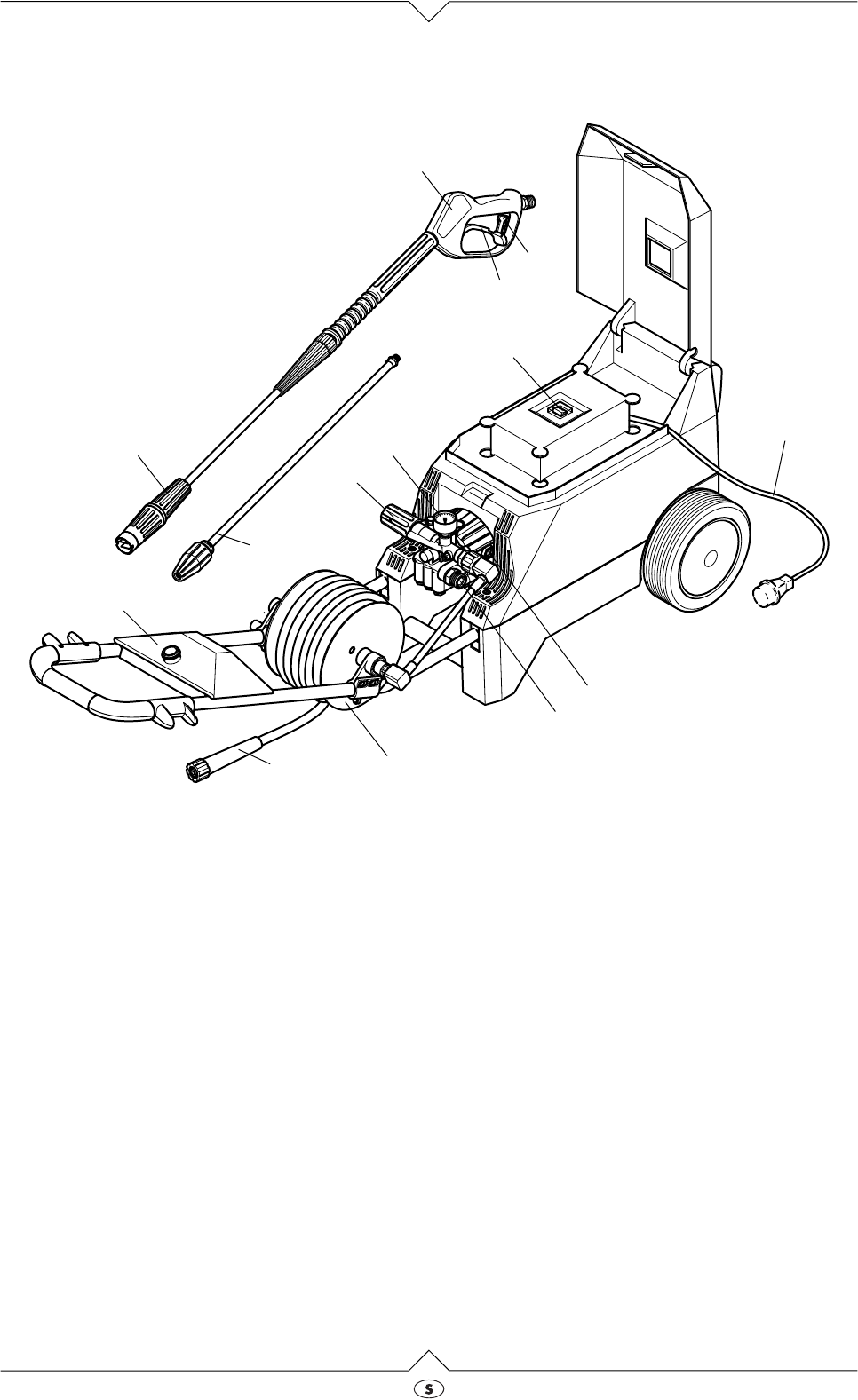 Page 3 of Elektra Beckum Pressure Washer HD 165 User Guide