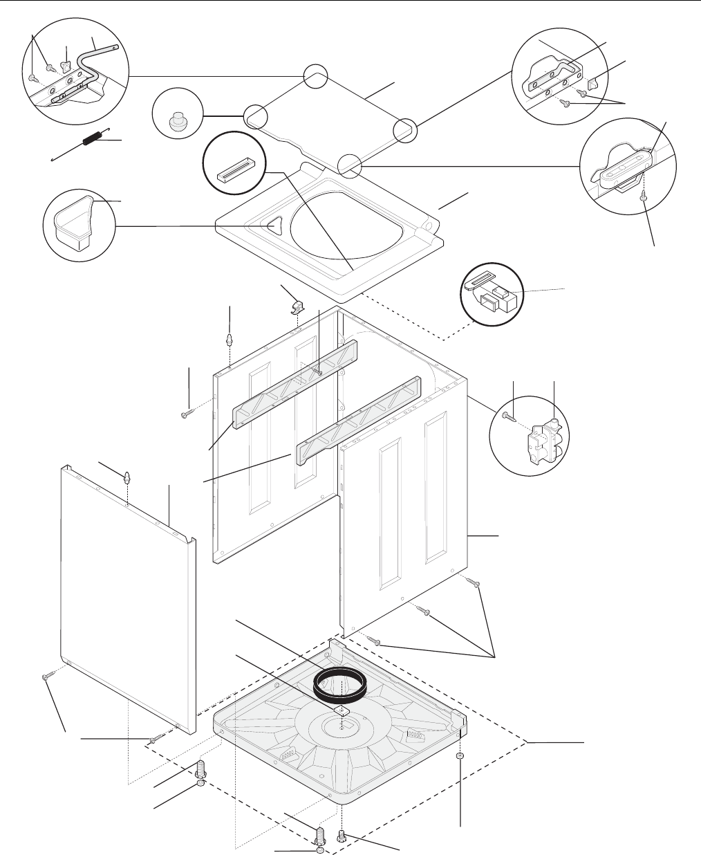 Page 8 of Frigidaire Washer/Dryer FEX831F User Guide