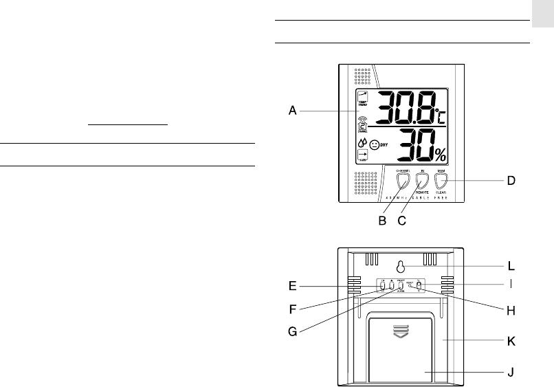 Oregon Scientific Thermometer EMR812HGN User Guide