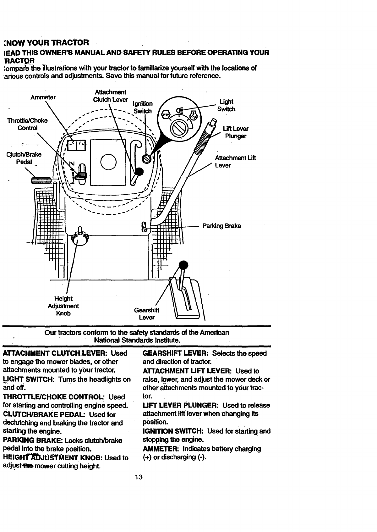 Page 13 of Craftsman Lawn Mower 917.270711 User Guide