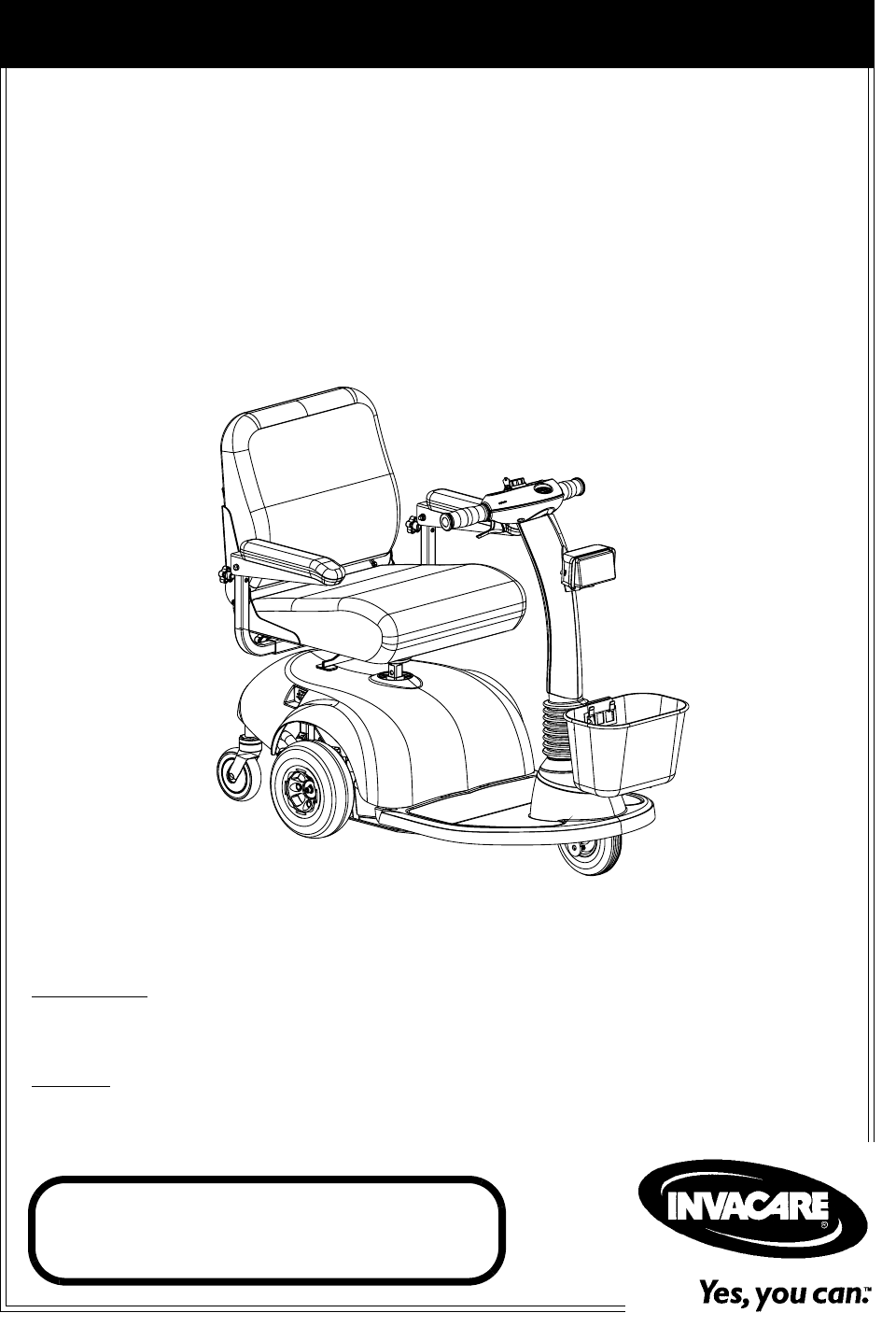 Invacare Mobility Aid HMV Highly 300 User Guide