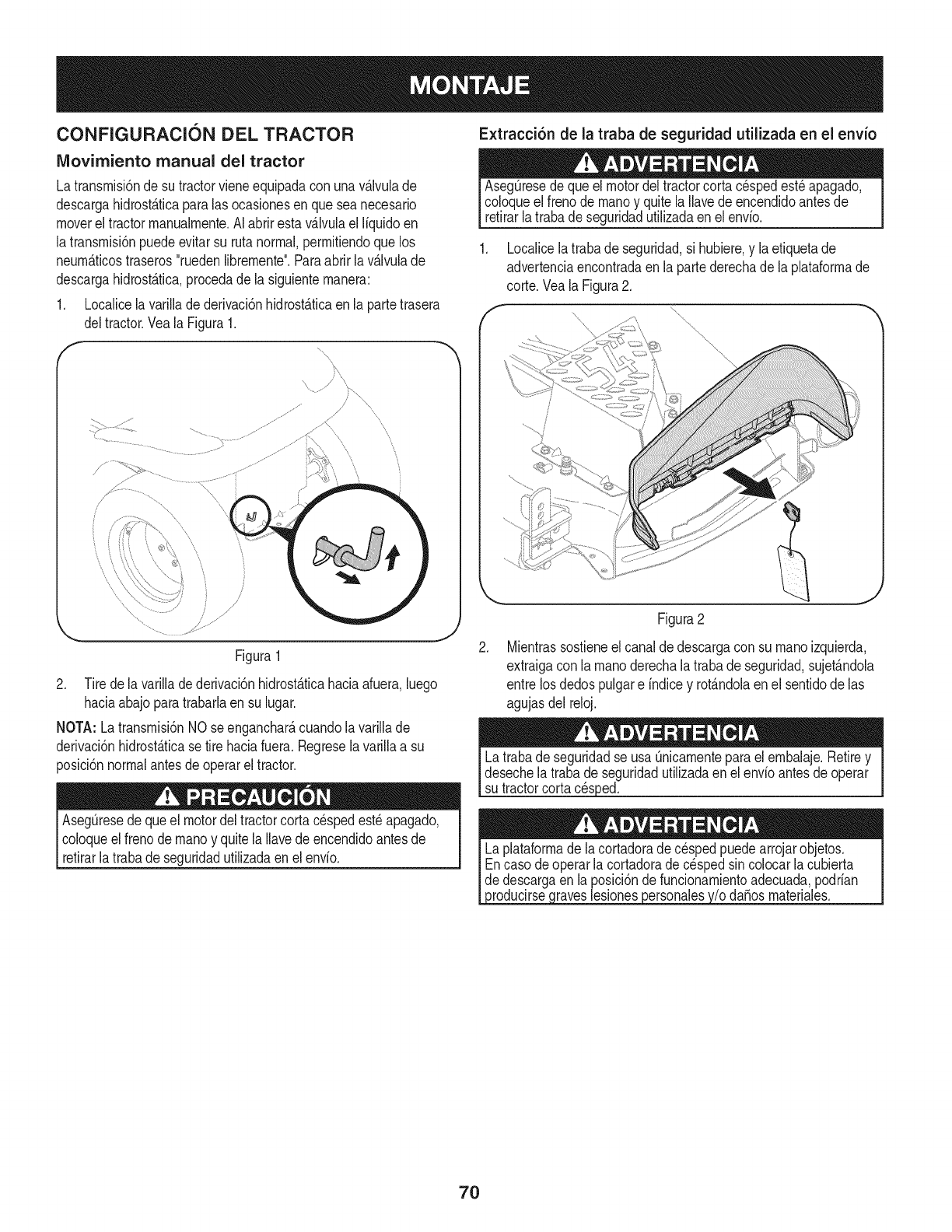Page 70 of Craftsman Lawn Mower 247.28984 User Guide