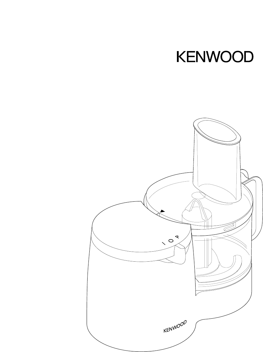 Kenwood Food Processor FP108 Series User Guide