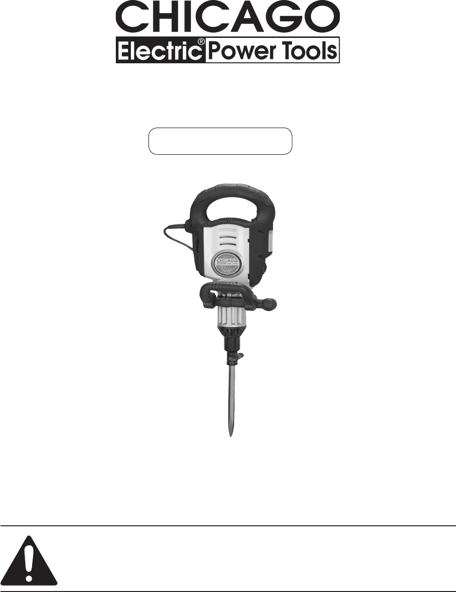 Chicago Electric Power Hammer 94882 User Guide