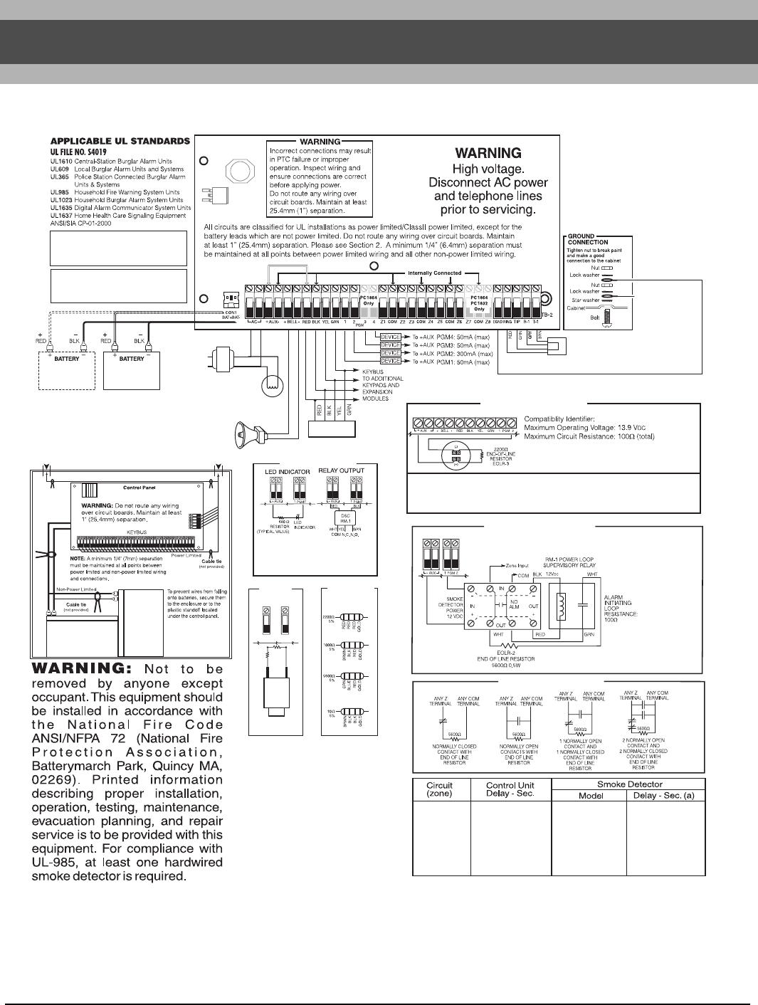 Page 62 of DSC Home Security System PC1616/PC1832/PC1864