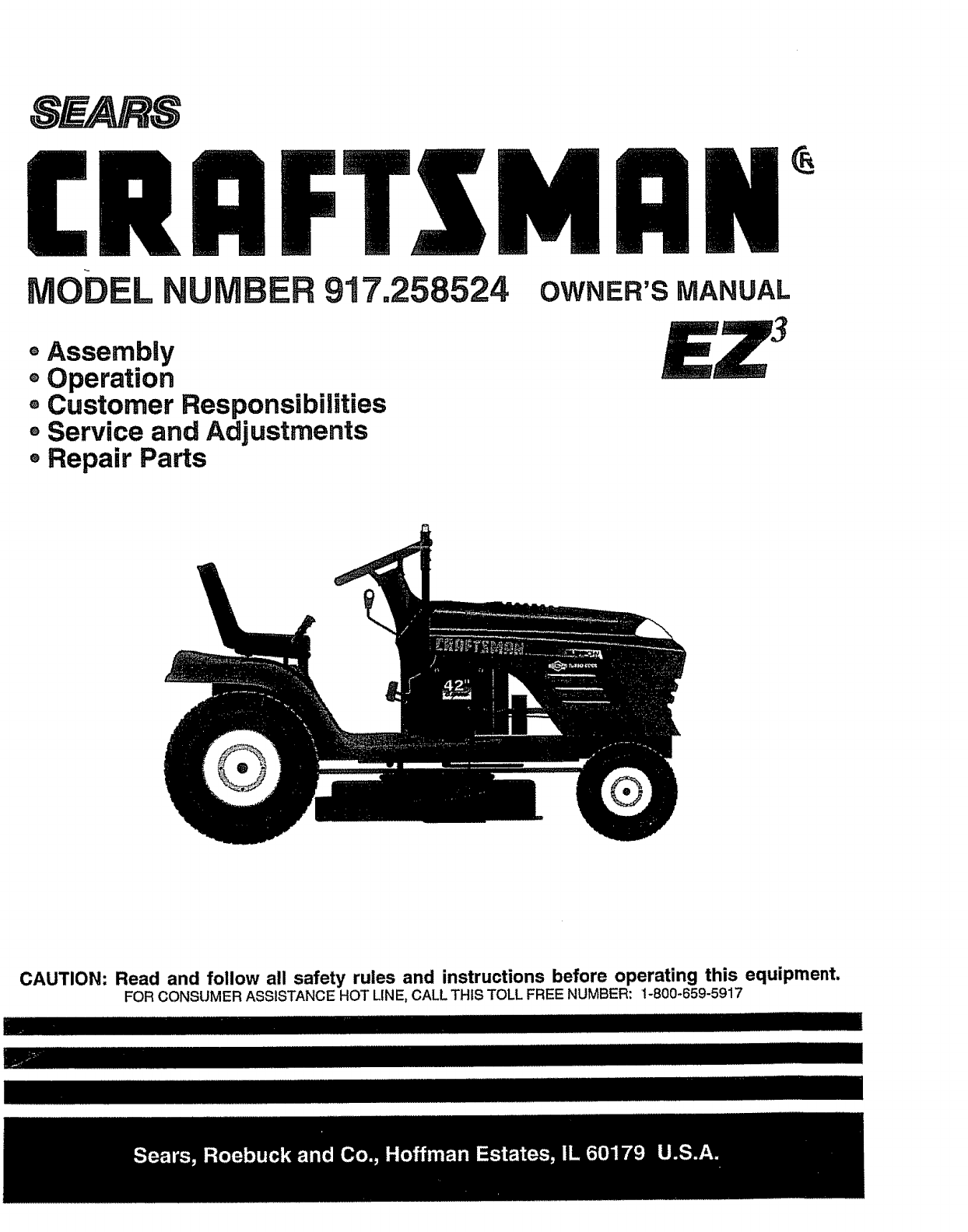 Sears Craftsman Lawn Mower Manuals Online