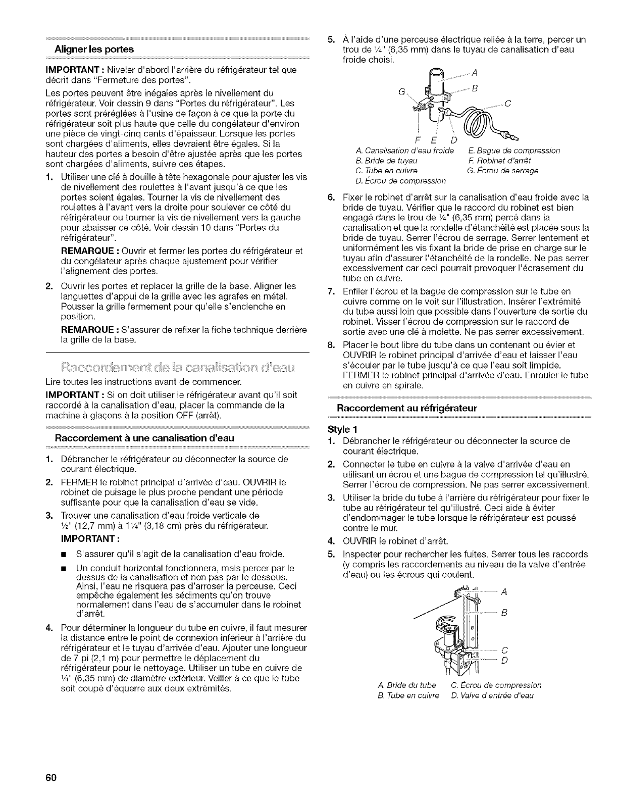 Page 60 of Kenmore Refrigerator 10656834601 User Guide