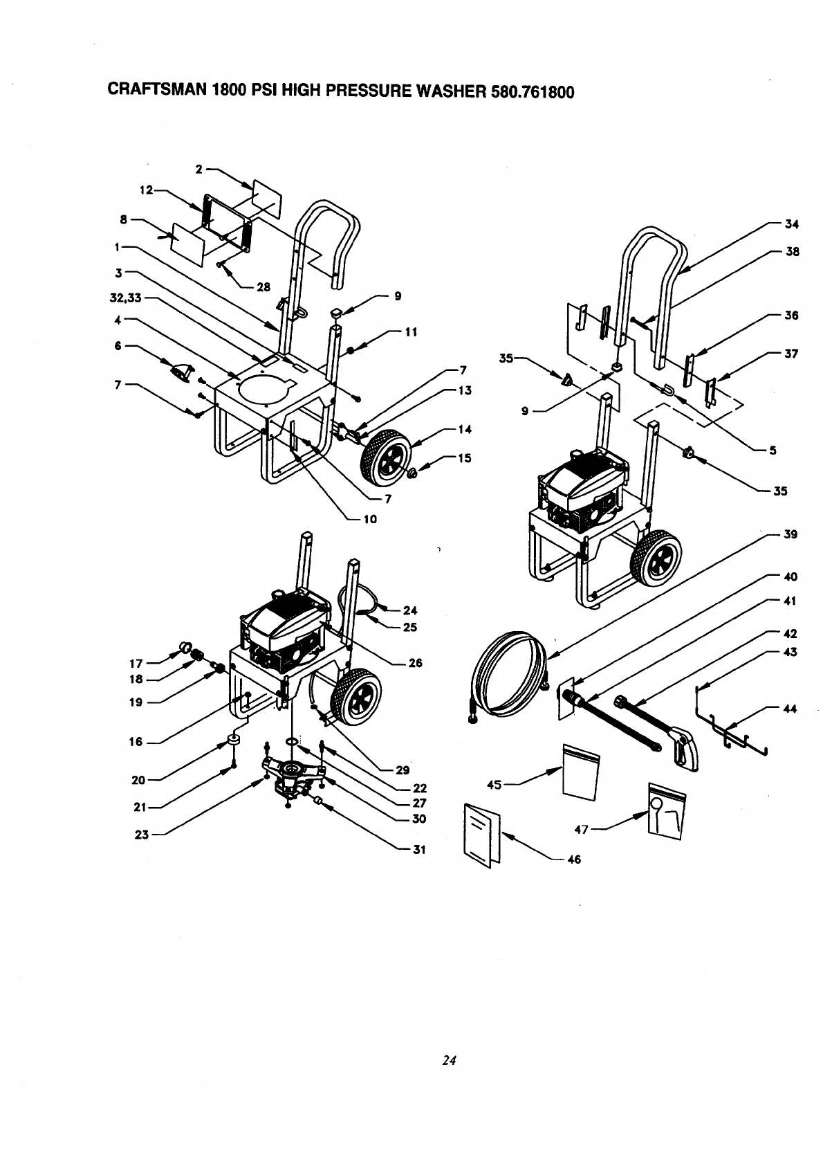 Page 24 of Craftsman Pressure Washer 580.7618 User Guide