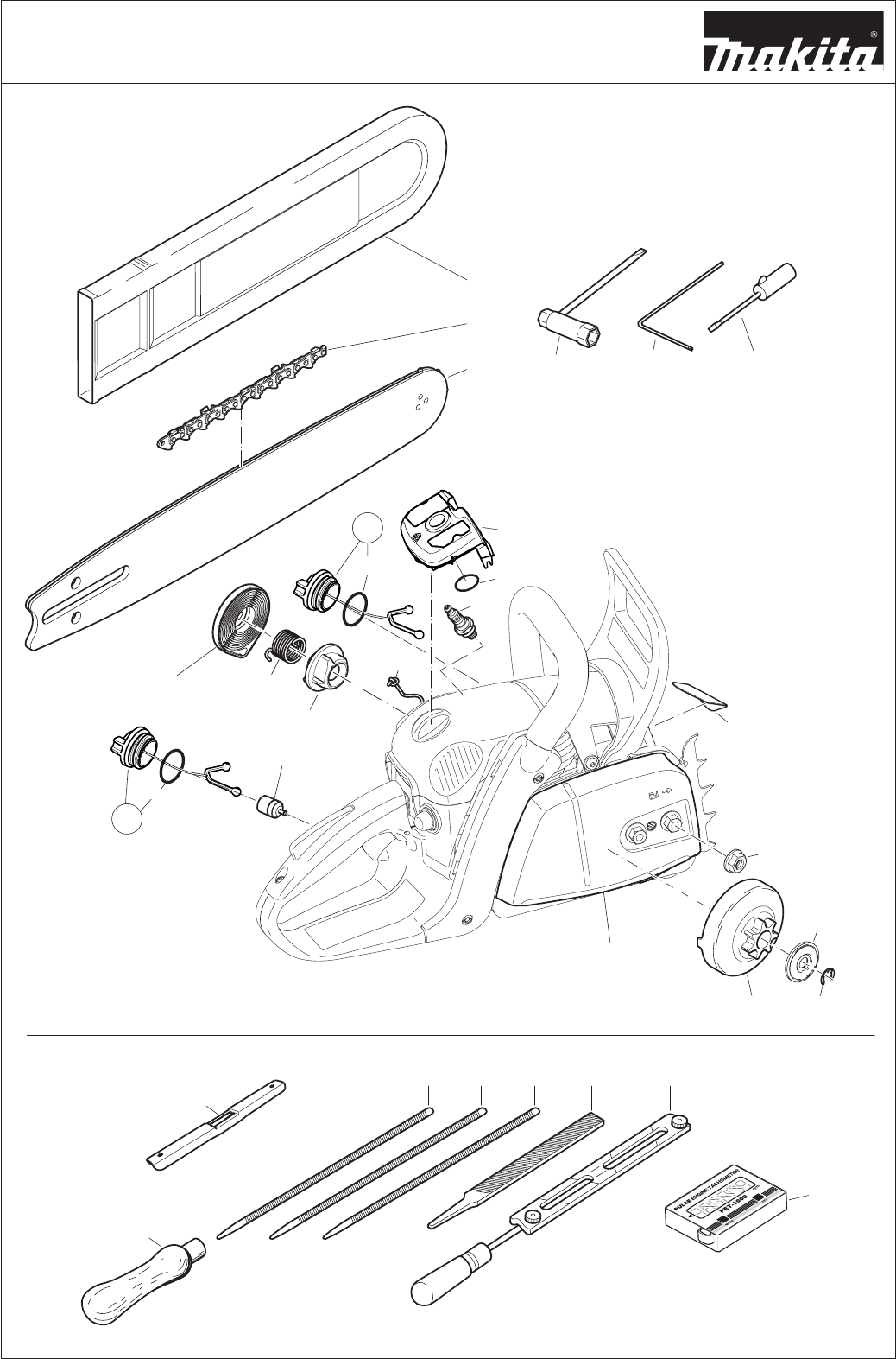 Page 44 of Makita Chainsaw EA4300F User Guide