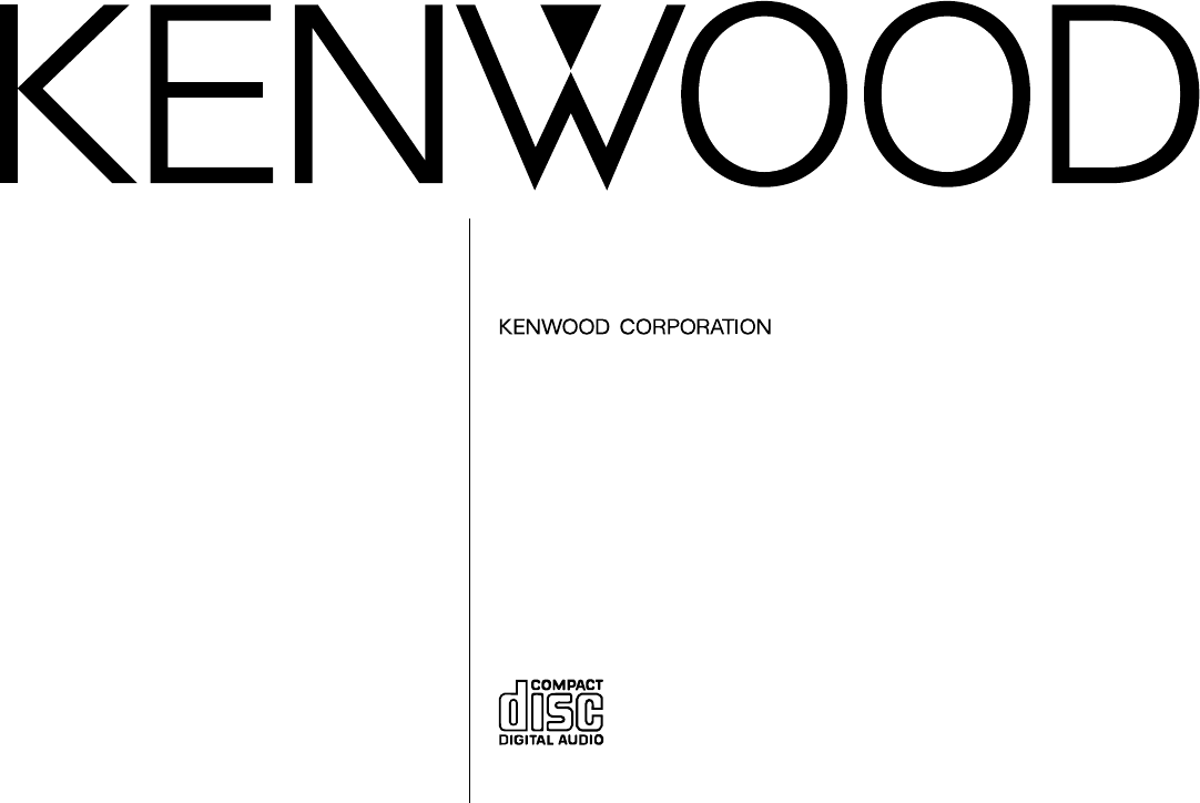 Kenwood Car Stereo System DPX-4020 User Guide