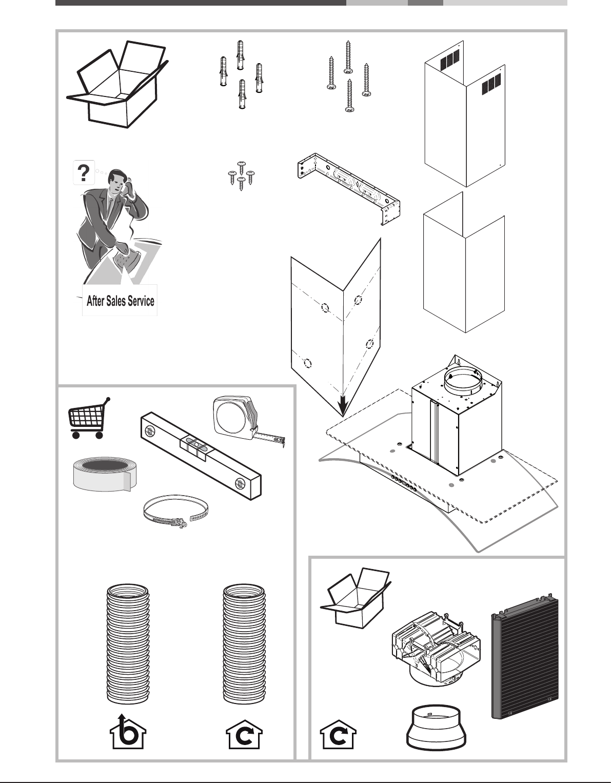 Page 2 of Hotpoint Ventilation Hood HDF6.5SAB User Guide