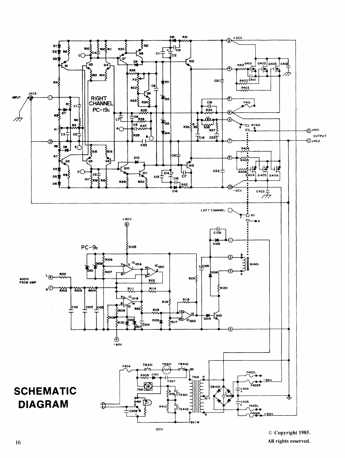 Page 16 of Hafler Stereo Amplifier DH-500 User Guide