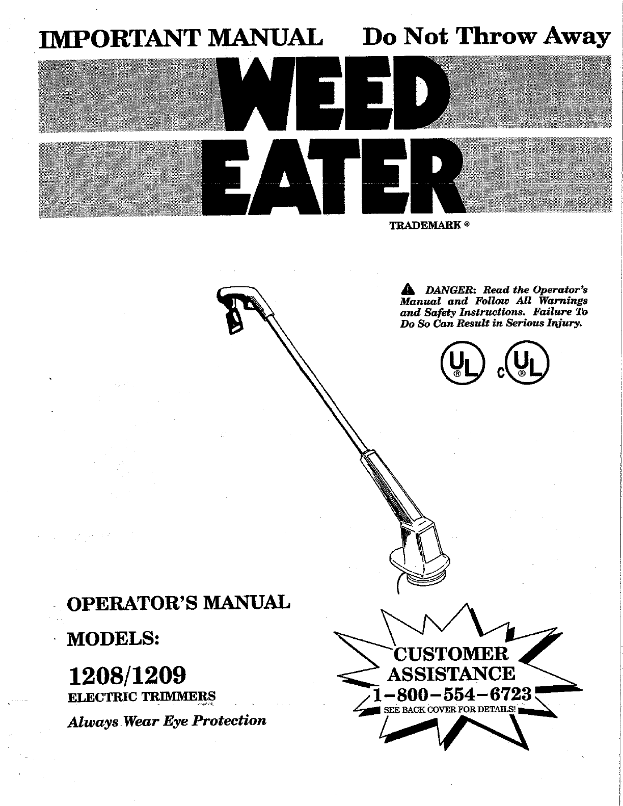 weed eater string trimmer manual Gallery