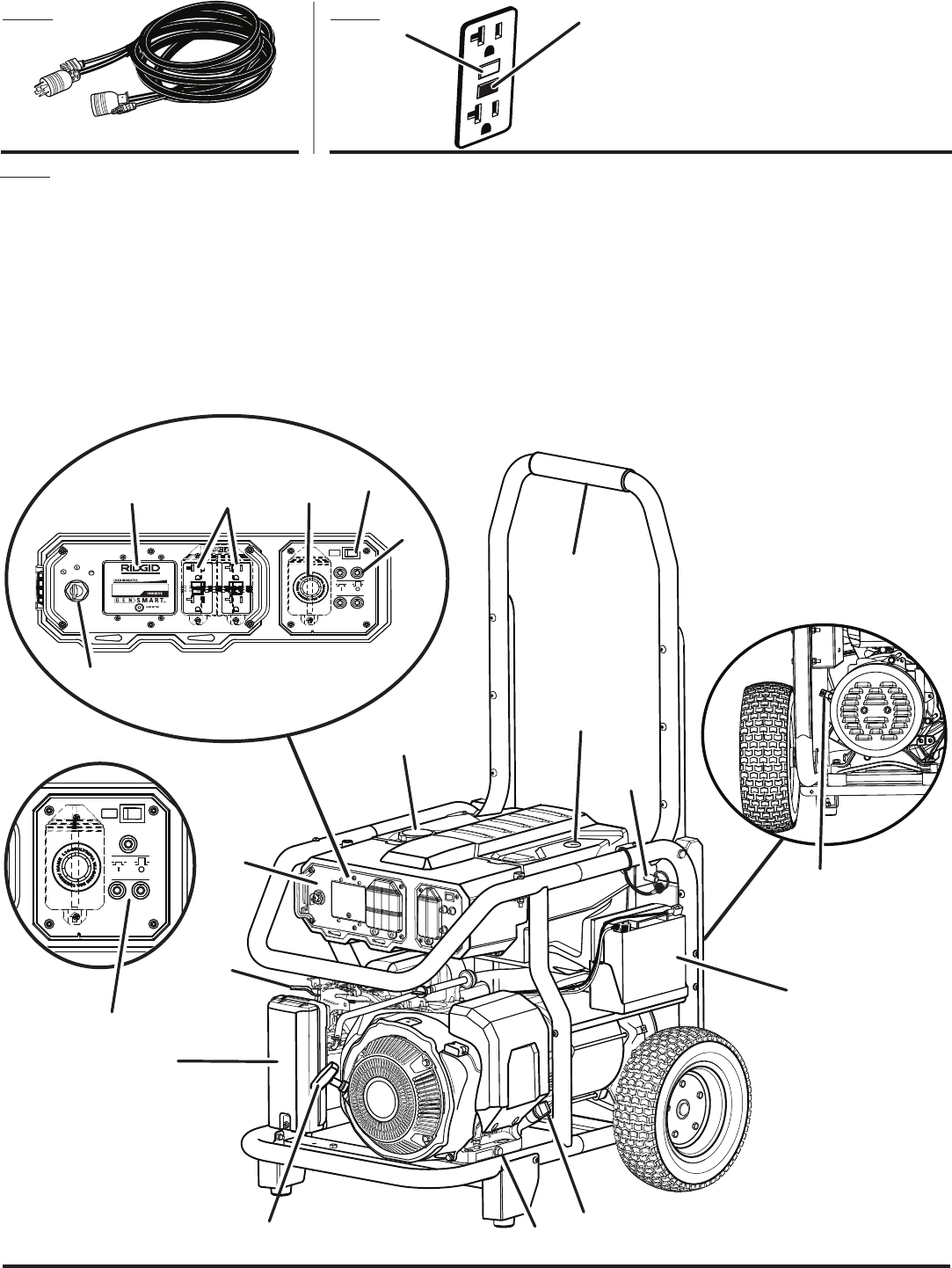 Page 70 of RIDGID Portable Generator RD8000 User Guide