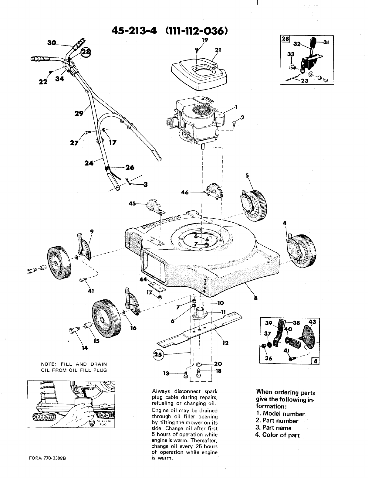 Page 2 of MTD Lawn Mower (111-112-036) User Guide