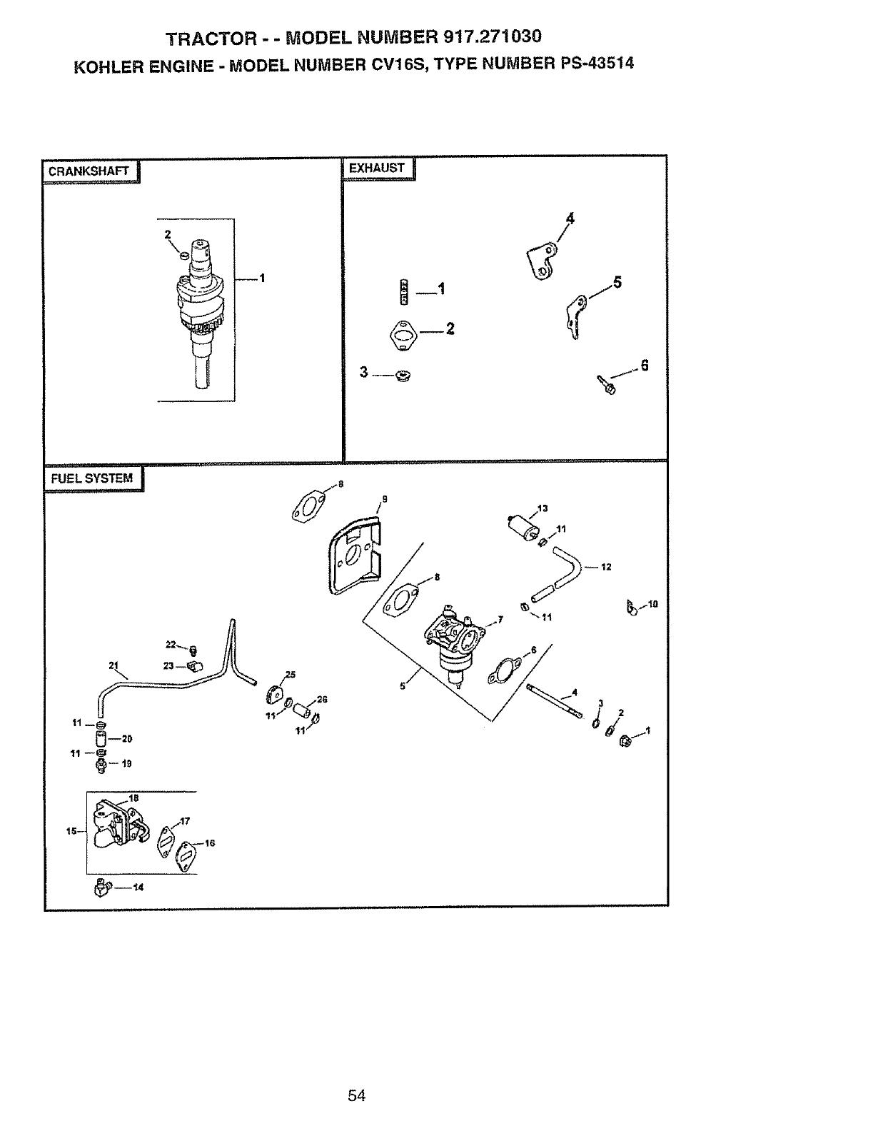Page 54 of Craftsman Lawn Mower 917.27103 User Guide