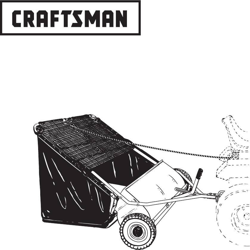Craftsman Lawn Sweeper 486.24222 User Guide
