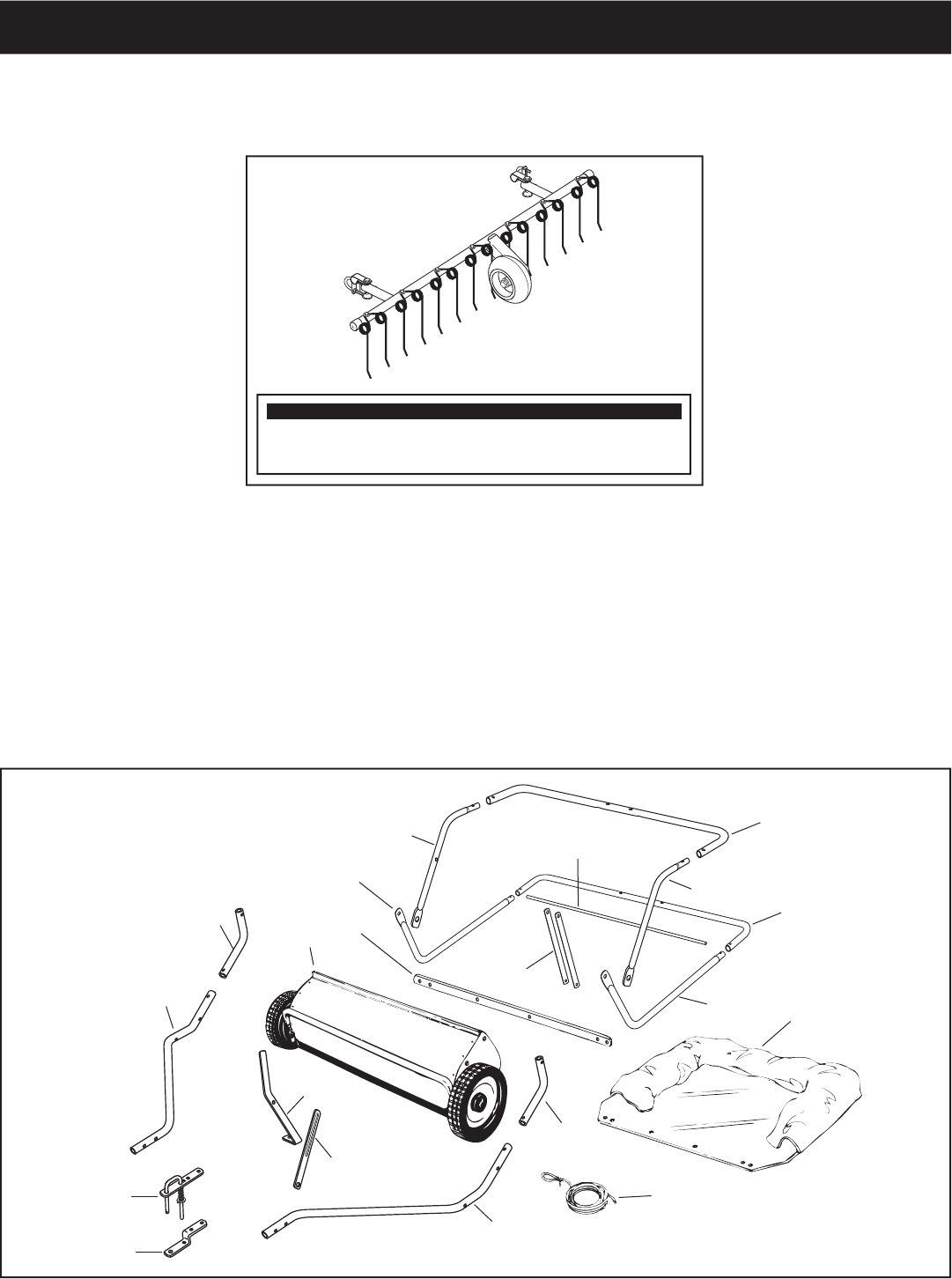 Page 3 of Craftsman Lawn Sweeper 486.24222 User Guide