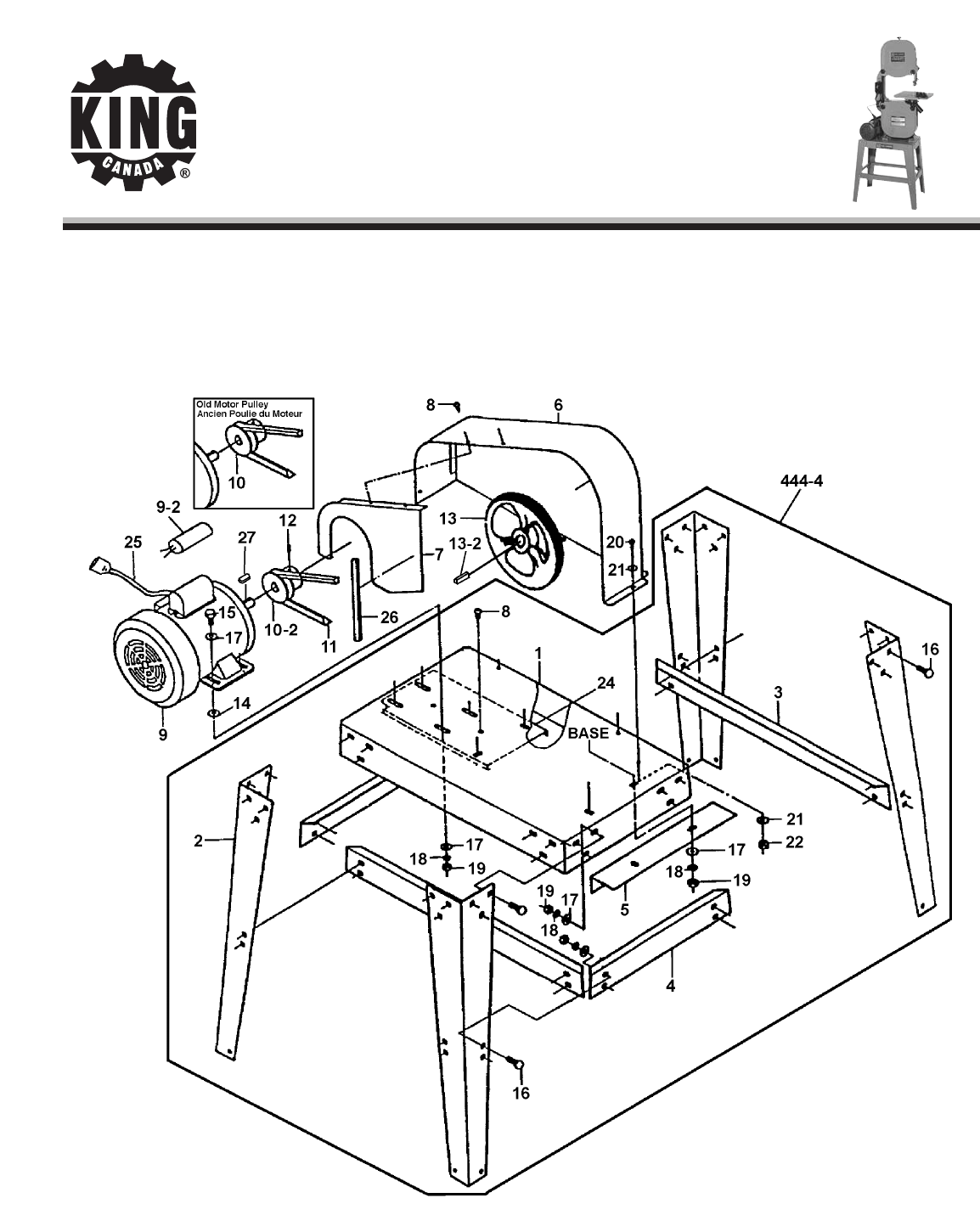 Page 3 of King Canada Saw KC-1401HD User Guide