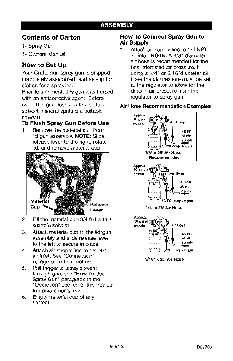 Page 5 of Craftsman Paint Sprayer 919.15519 User Guide