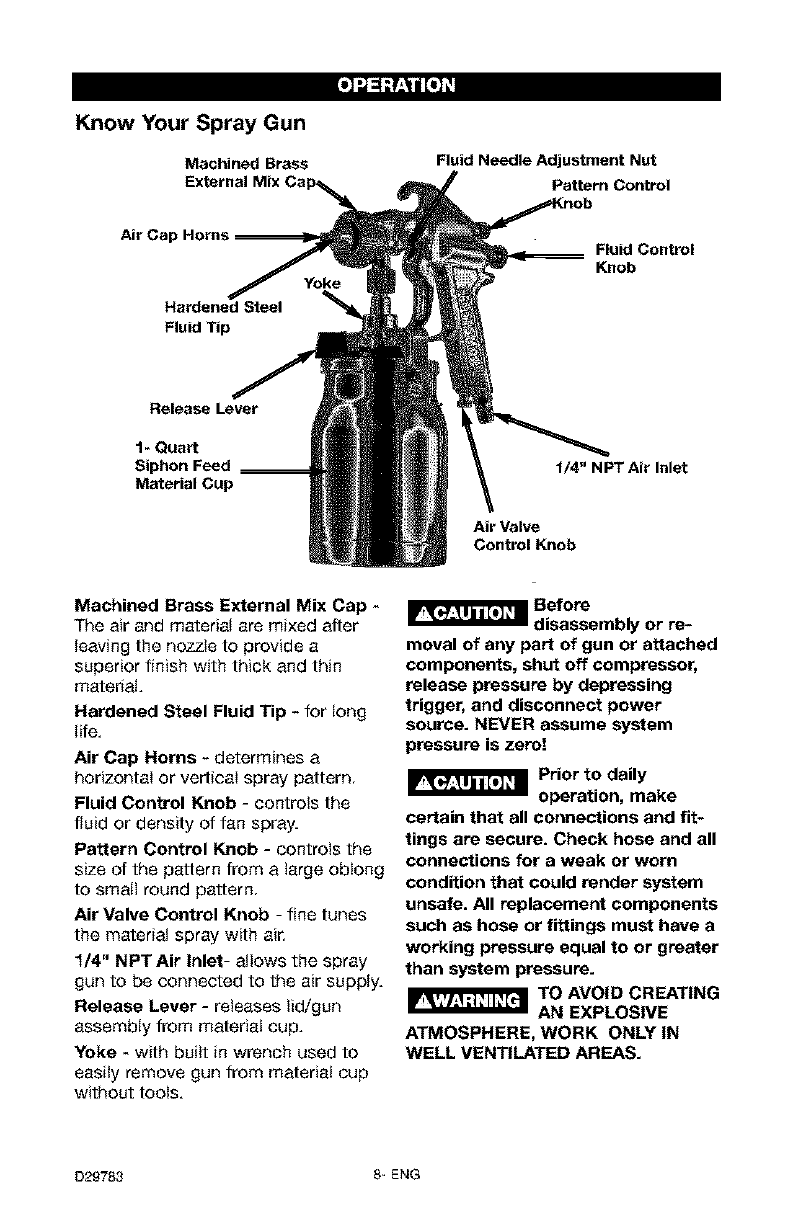Page 8 of Craftsman Paint Sprayer 919.15519 User Guide