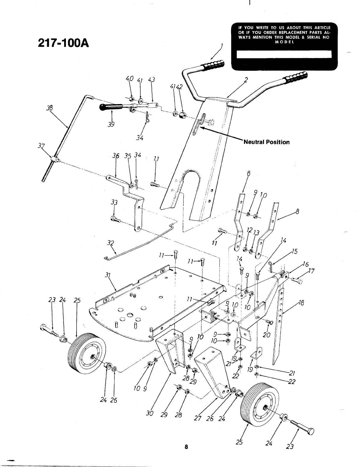 Page 8 of MTD Tiller 217-100-300 User Guide