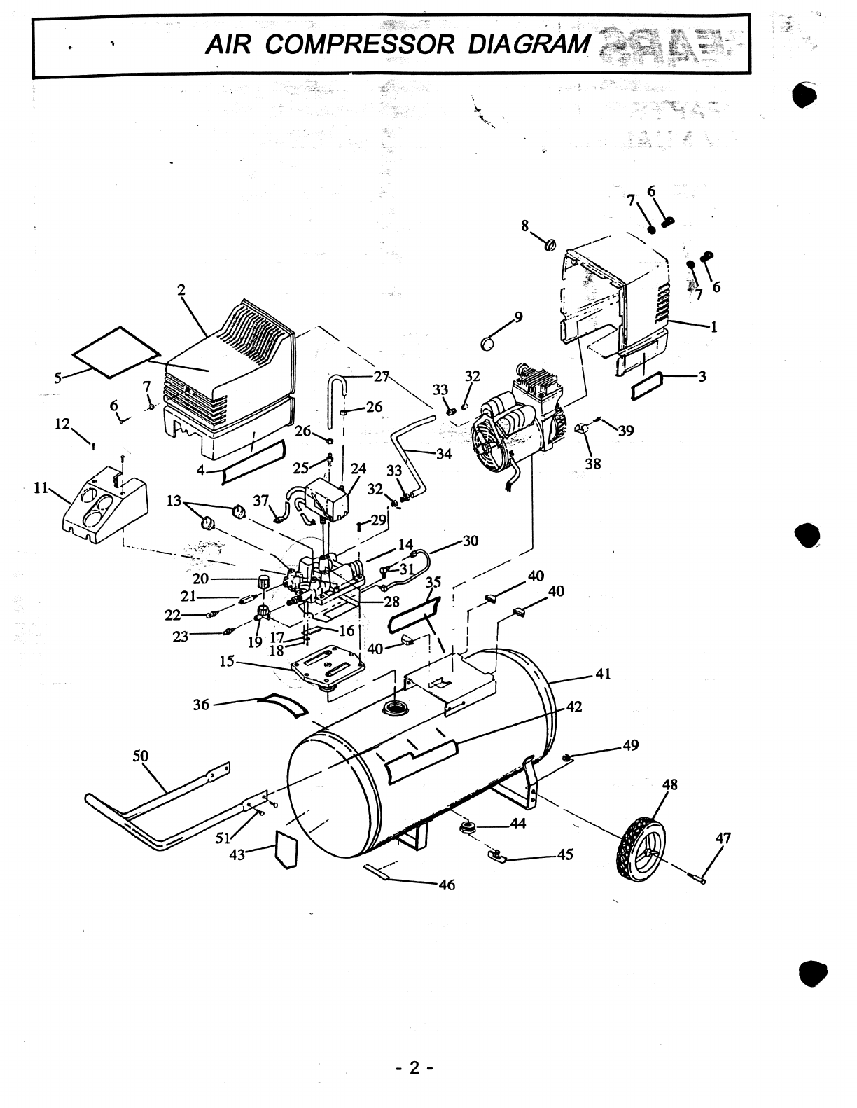 Page 2 of Sears Air Compressor 919152920 User Guide