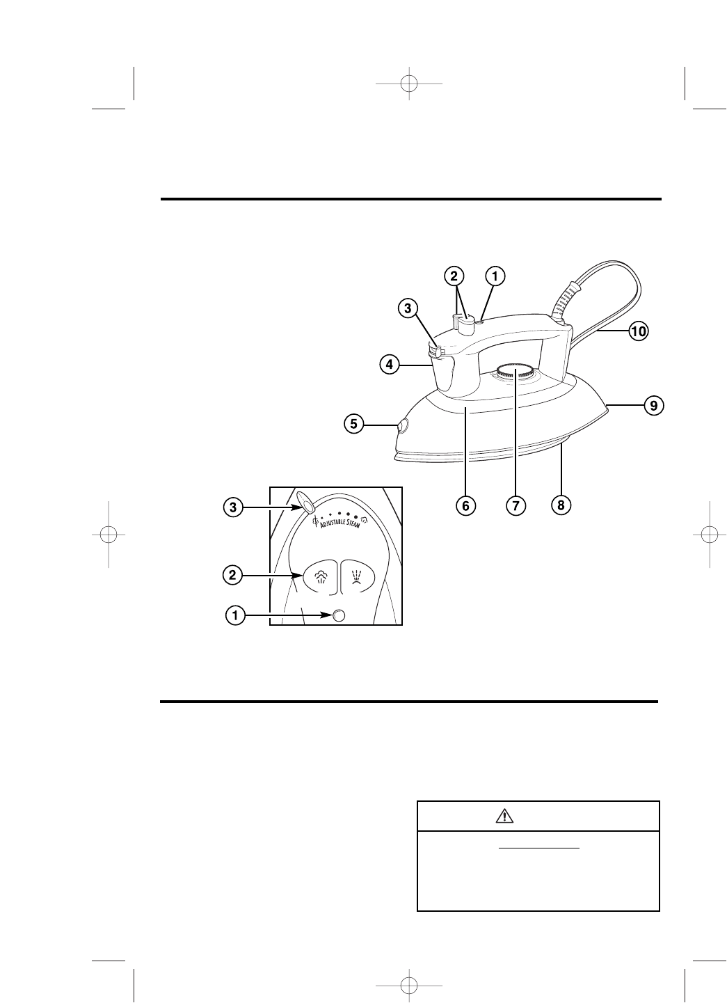 Page 3 of Hamilton Beach Iron 14200 User Guide