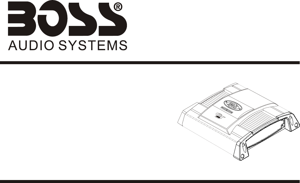 Boss Audio Systems Car Amplifier GT1080 User Guide