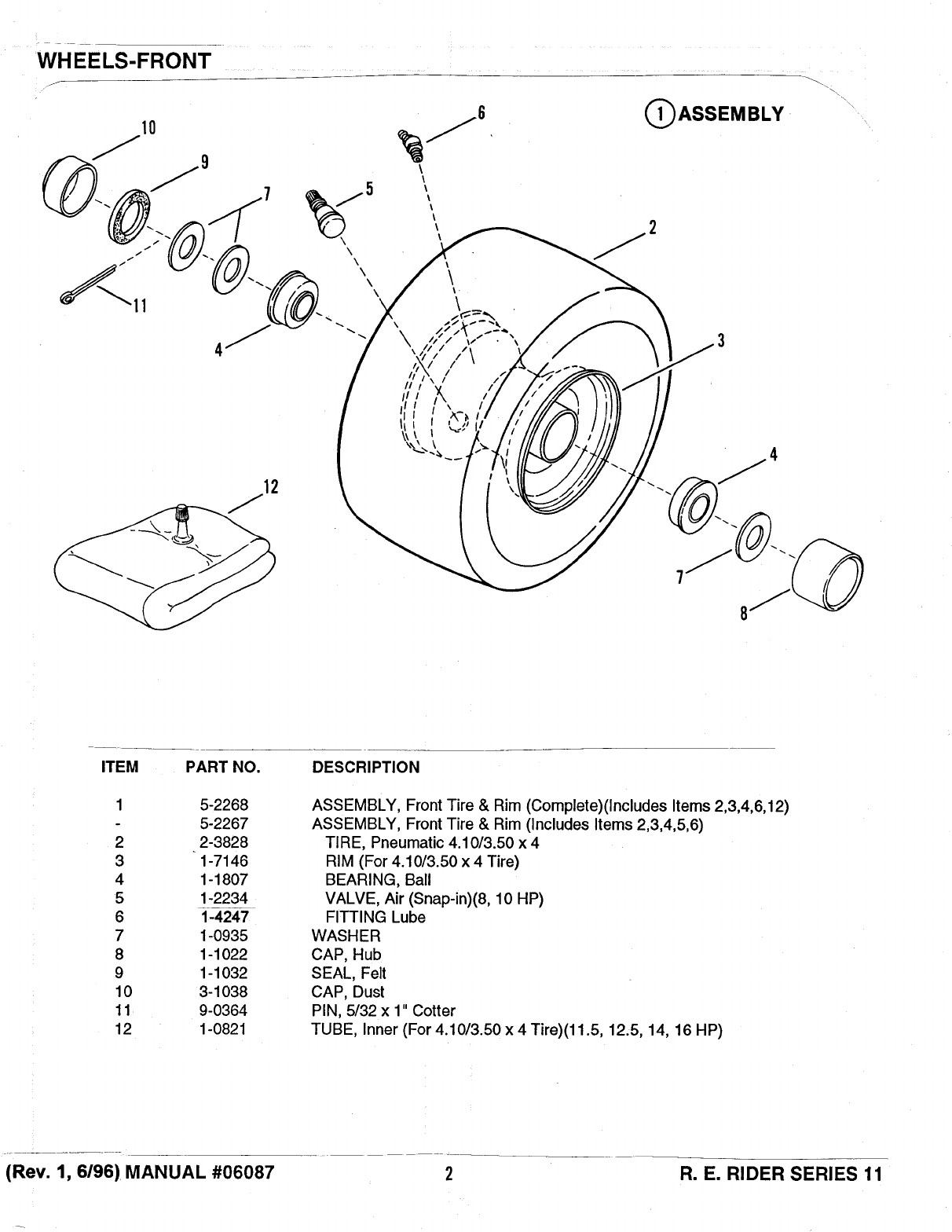 Page 2 of Snapper Lawn Mower Series 11 User Guide