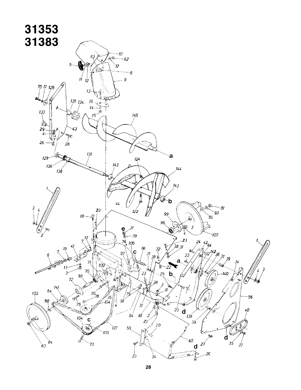 Page 28 of Yard-Man Snow Blower 31340-8 User Guide
