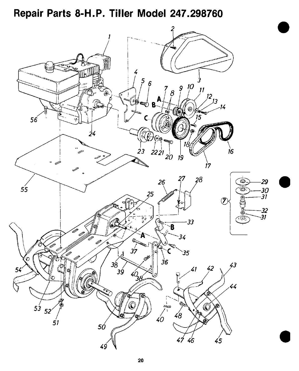 Page 20 of Craftsman Tiller 247.29876 User Guide
