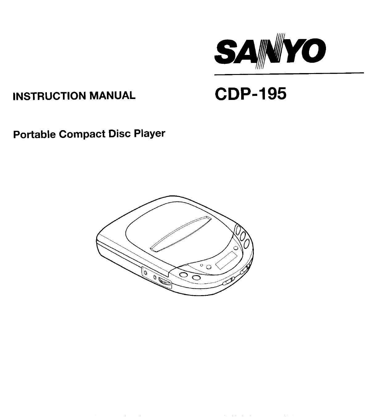 Sanyo Portable CD Player cdp-195 User Guide