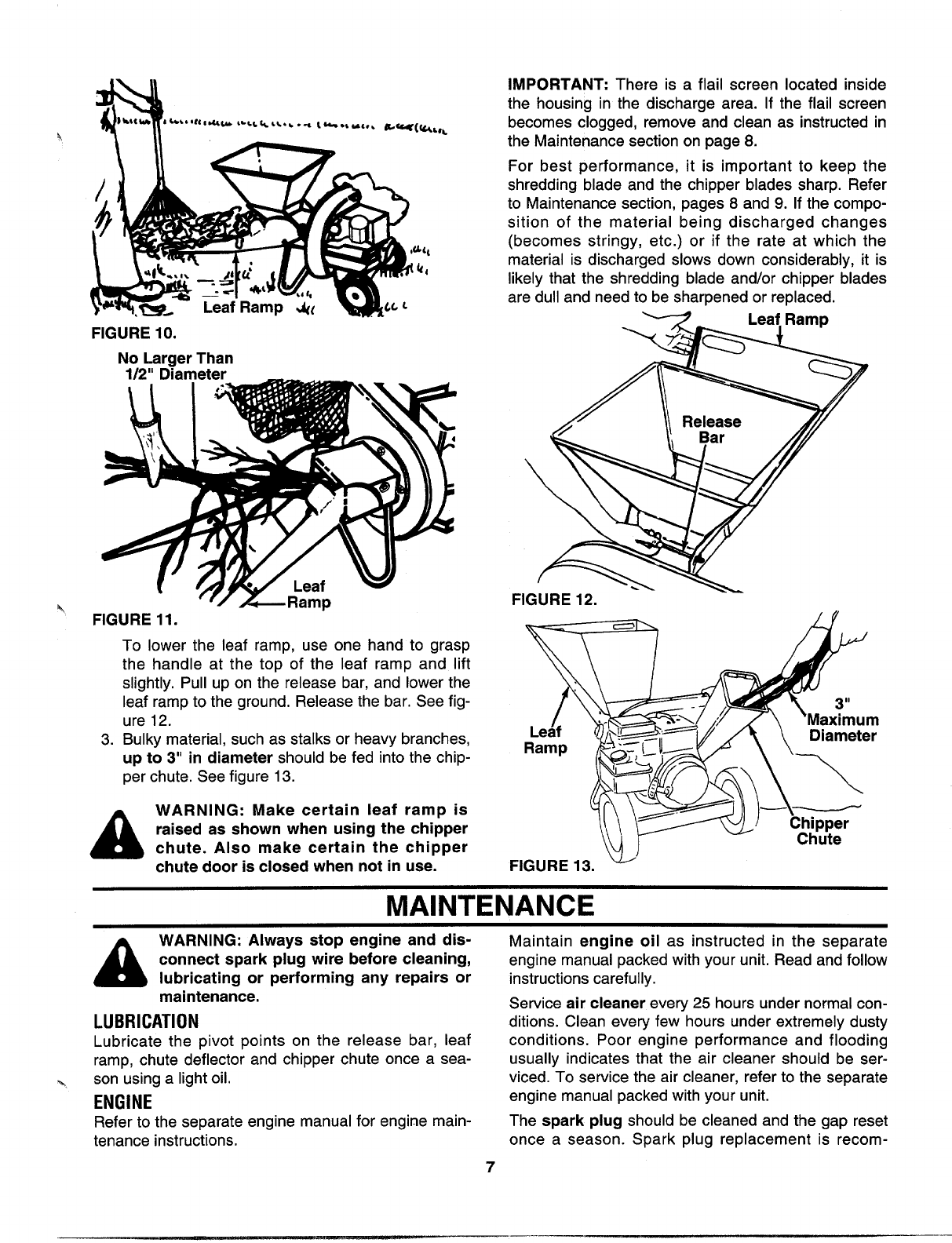 Page 7 of MTD Chipper 243-651B000 User Guide