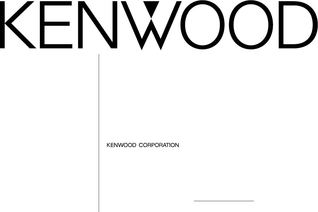 Kenwood Car Stereo System KRC-225 User Guide
