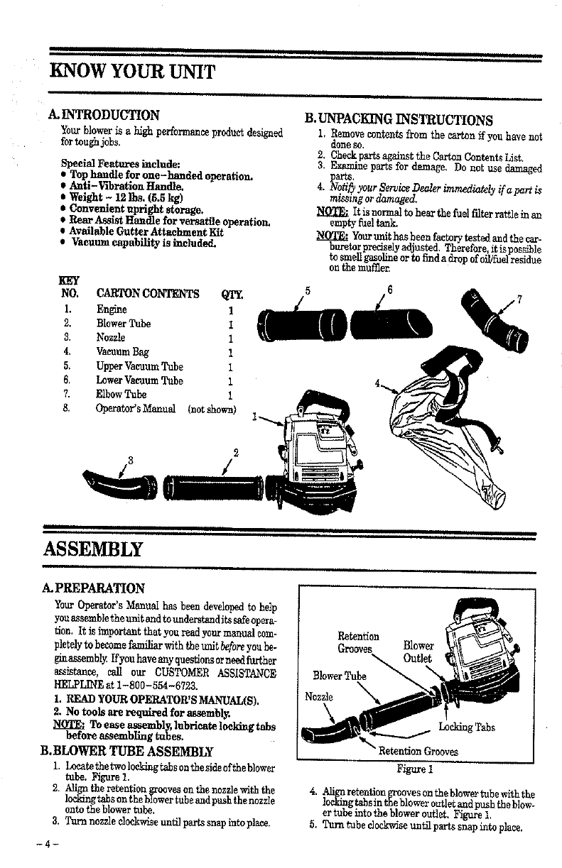 Page 4 of Weed Eater Blower GBI 22V User Guide