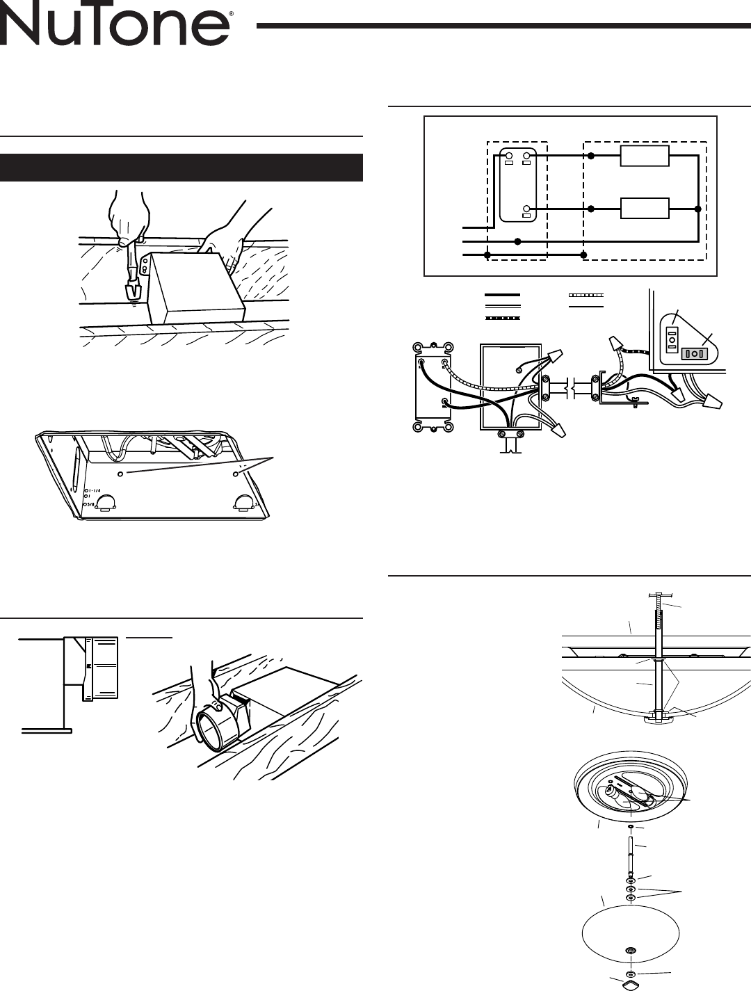 bathroom fan wiring diagram 2004 ford f150 car stereo page 3 of nutone ventilation hood 768chnt user guide