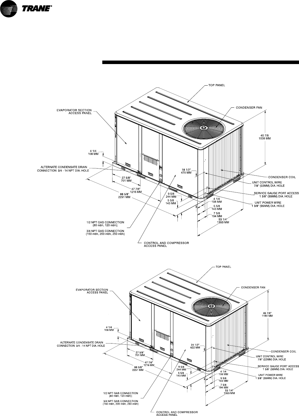 Page 48 of Trane Air Conditioner YSC060-120 User Guide