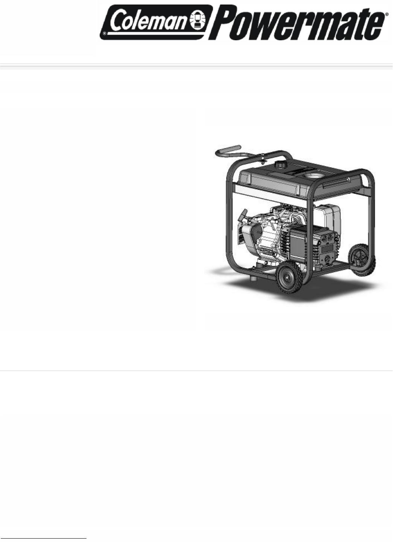 Powermate Portable Generator PM0435002 User Guide