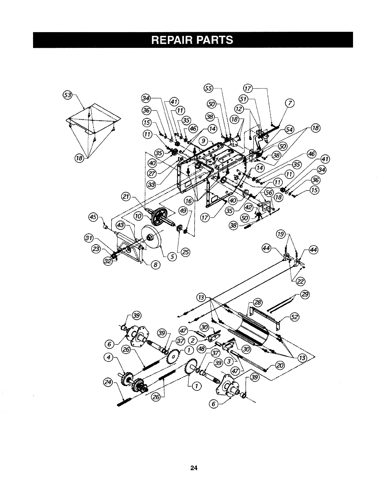 Page 22 of Sears Snow Blower 247.88557 User Guide