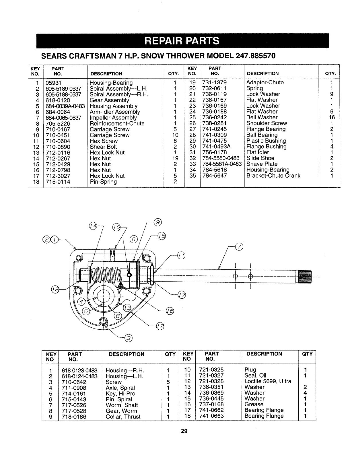 Page 27 of Sears Snow Blower 247.88557 User Guide