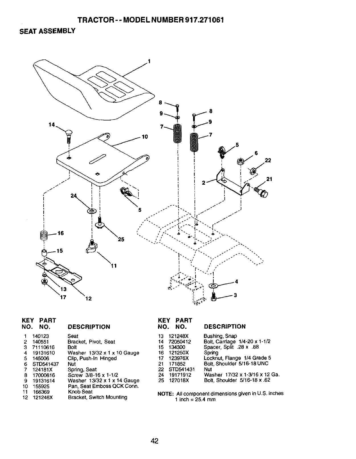 Page 42 of Craftsman Lawn Mower 917.271061 User Guide