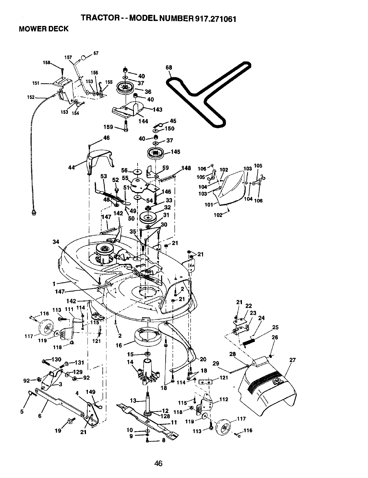 Page 46 of Craftsman Lawn Mower 917.271061 User Guide