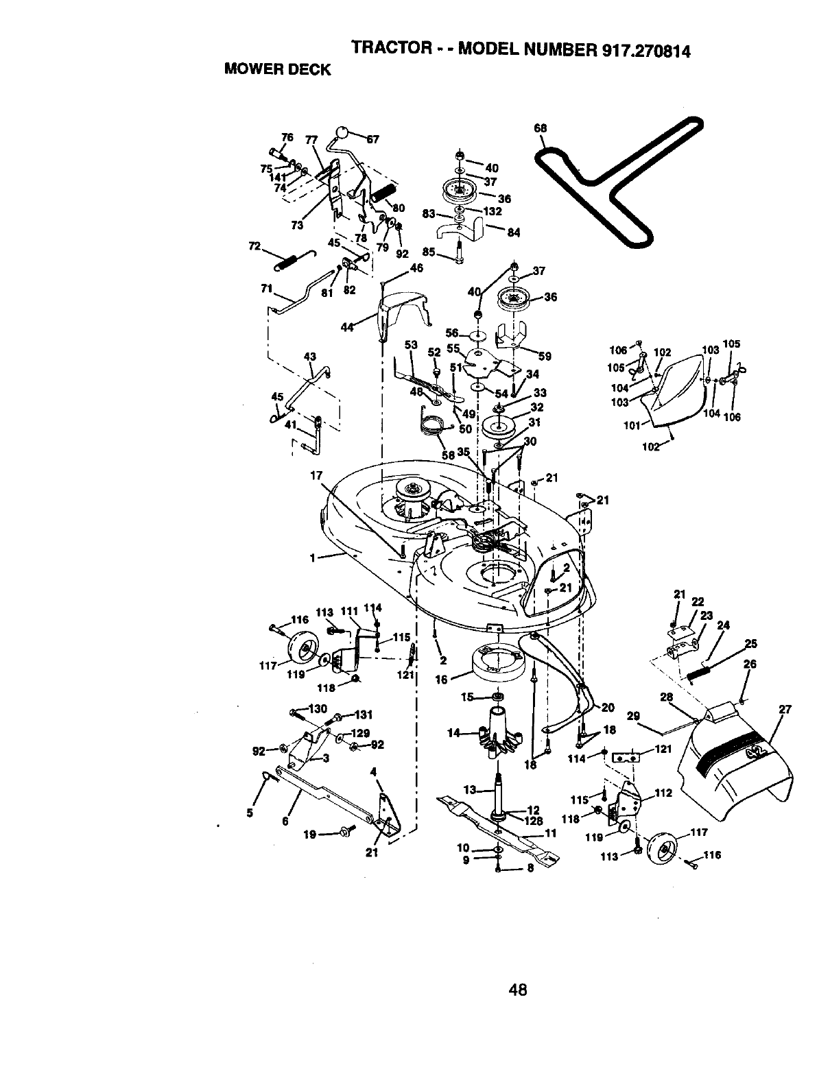 Page 48 of Craftsman Lawn Mower 917.270814 User Guide
