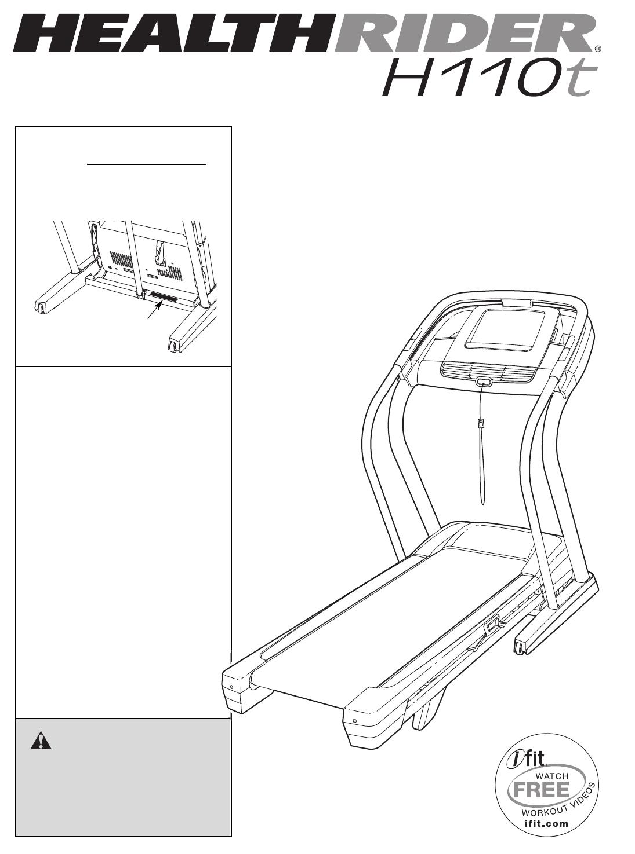 Healthrider Treadmill HRTL11510.1 User Guide
