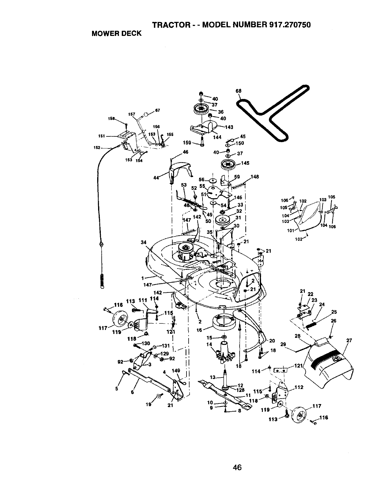 Page 46 of Craftsman Lawn Mower 917.27075 User Guide