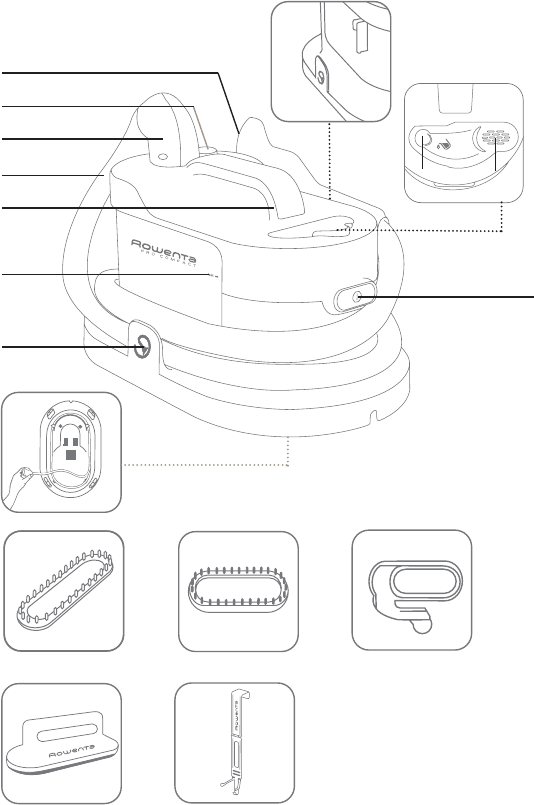 Page 2 of Rowenta Iron GARMENT STEAMER User Guide